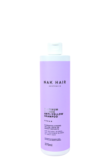 NAK HAIR Platinum Blonde Anti-Yellow Shampoo 375ml