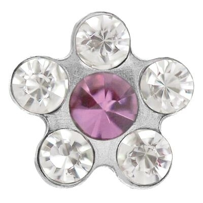 Studex Sensitive Korvakorut Stainless Steel Daisy Crystal Rose 8mm