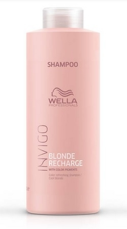 Wella Invigo Cool Blonde Recharge Shampoo 1l